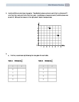 NYS Math - Grade 5 - Module 6 Mid-Module Review Sheet (with Answer Key)
