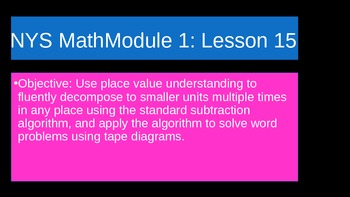 NYS Math Module 1 Lesson 15