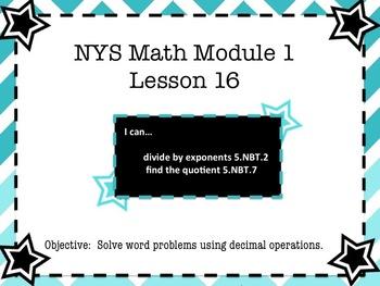NYS Math Module 1 Lesson 16 Grade 5