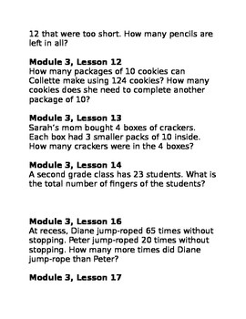 NYS Math Module 3 Grade 2 - Application Problems
