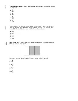 NYS Math Test Review Grade 4