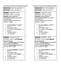 NYS New York Short Response Writing RADD bookmark visual aid - editable