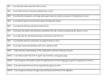 "NYS Next Generation ""I Can Statements"" - Grade K - ELA/Math Planbook List Bundle"