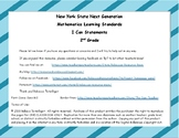 NYS Next Generation Learning Standards - I Can Statements - 2nd Grade Math