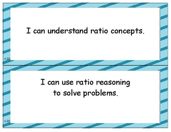 NYS Next Generation Learning Standards - I Can Statements - Grade 6 Math
