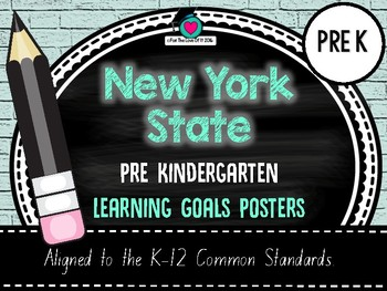 NYS Prekindergarten Standards POSTERS for English Language Arts & Literacy.