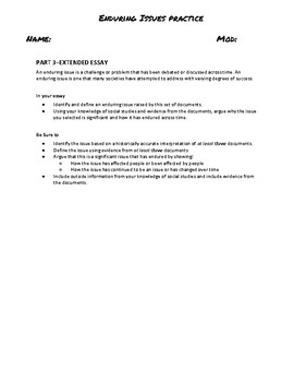 Enduring Issues Essay