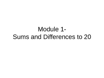 NYS Second Grade Math Module 1- Sums and Differences to 20