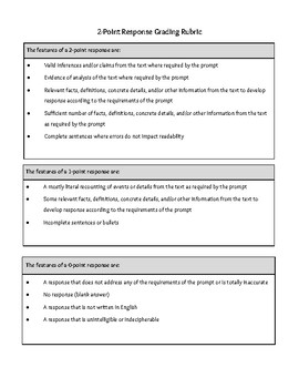 NYS Two-Point Rubric Worksheet