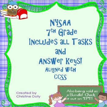 NYSAA 7th Grade ELA and Math all tasks 1-5 with answer keys!!