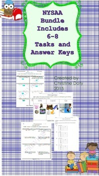 NYSAA BUNDLE. Includes 6th-8th all tasks, answer keys, and Free Org. Toolkit