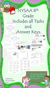 NYSAA 8th Grade all ELA, Math tasks 1-5, Science Tasks and answer keys.