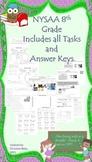 NYSAA 8th Grade all ELA, Math tasks 1-5, Science Tasks and