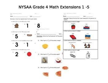 NYSAA Grade 4 Math 2014 - 2015 (Extensions 1, 2, 3, 4, 5)