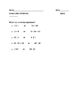 NYSAA Grade 5 Math AT50111A (baseline)