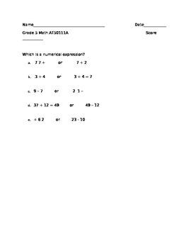 NYSAA Grade 5 Math AT50111A (final)
