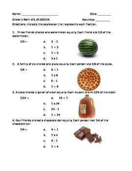 NYSAA Grade 5 Math AT50311A (baseline)