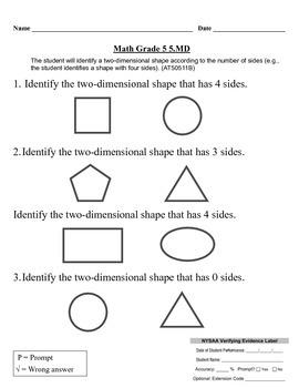 NYSAA- Math Grade 5 5.MD