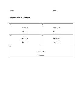 NYSAA- Solve an equation.