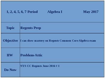 NYSCC Algebra Regents Exam, Aug. 2016