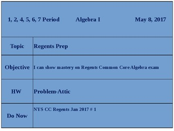 NYSCC Algebra Regents Exam, Jan. 2017