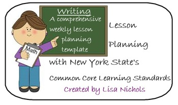 NYS CCLS Weekly Planner for Writing & 2nd Grade