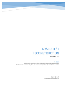 NYSED ELA Test Reconstruction