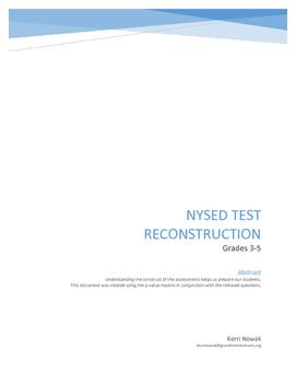 NYSED ELA Test Reconstruction