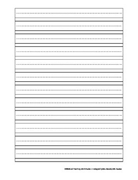 NYSESLAT 2015 Grades 1-2 Short Constructed Response Writing Packet