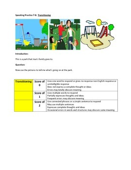 NYSESLAT 2015 Grades 7-8 Speaking Tasks and Activities with Answer Sheet