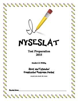 NYSESLAT 2015 K-6 Writing Test Preparation Bundle w/ Question Flash Cards