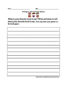 NYSESLAT 2015 Kindergarten Short Constructed Response Test Prep