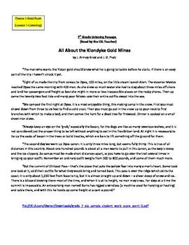 NYSESLAT 2015 Grades 7-8, Listening, Reading & Writing Short Const. Response