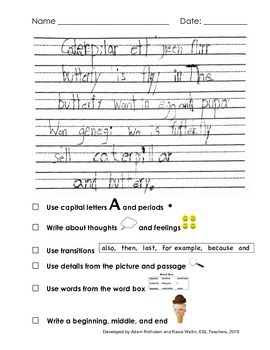 NYSESLAT 2015 Grades 1 - 2 Test Prep Lesson and Item Short Constructed Response
