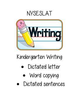 NYSESLAT Kindergarten Writing