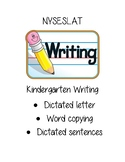 NYSESLAT Kindergarten Writing