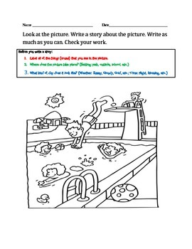 "Updated: Picture-Based Writing Packet with ""Before You Begin"" Instructions"