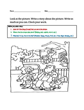 """Updated: Picture-Based Writing Packet with """"Before You Beg"""