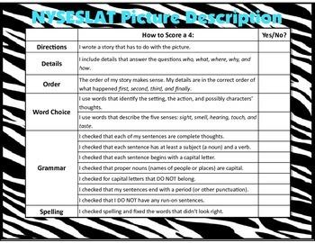 NYSESLAT Picture Description Student-Talk Checklist