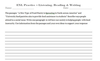 NYSESLAT Practice (9th-12th Grade ELLs) - Listening, Reading and Writing (SCR)