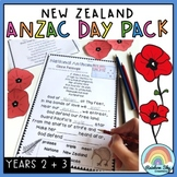 NZ ANZAC Day Pack - Year 2 - 3 (New Zealand Anzac Day Activities)