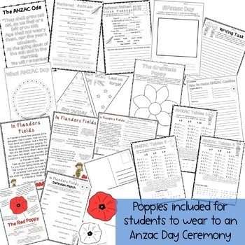 NZ ANZAC Day Pack - Years 4 - 6
