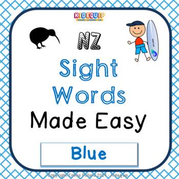 NZ Basic Sight Words Pack - BLUE