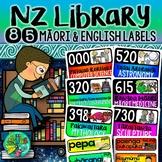 NZ Dewey Decimal System & Library Vocabulary labels (Maori & English)