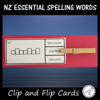 NZ Essential Spelling Words - Clip and Flip Cards