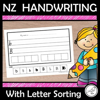 NZ Handwriting - letter of alphabet with upper and lower case sorting activity