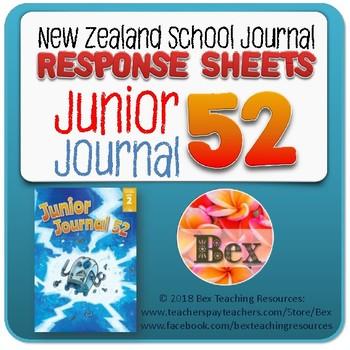NZ Junior Journal 52 Reading Responses