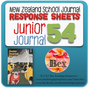 NZ Junior Journal 54 Reading Responses