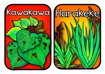 NZ Native Tree Themed Labels