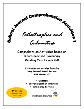 NZ School Journal Comprehension Pack 1: Catastrophes and Calamities